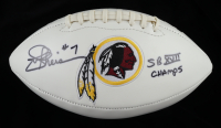 "Joe Theismann Signed Redskins Logo Football Inscribed ""SB XVII Champs"" (JSA Hologram) (See Description) at PristineAuction.com"