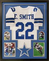 Emmitt Smith Signed 34x42 Custom Framed Jersey Display (Beckett COA) at PristineAuction.com