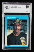 Barry Bonds 1987 Fleer #604 RC (BCCG 10) at PristineAuction.com