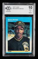 Barry Bonds 1987 Fleer #604 RC (BCCG 10) at PristineAuction.com