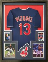 Omar Vizquel Signed 34x42 Custom Framed Jersey Display (JSA COA) at PristineAuction.com