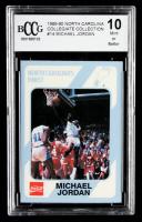 Michael Jordan 1989-90 North Carolina Collegiate Collection #14 (BCCG 10) at PristineAuction.com