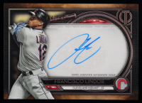 Francisco Lindor 2020 Topps Tribute Autographs #TAFL at PristineAuction.com