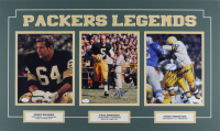 Jerry Kramer, Paul Hornung & Fuzzy Thurston Signed Packers 18x30 Custom Matted Photo Display (JSA COA) at PristineAuction.com