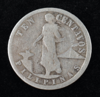 1918 United States Filipinas Ten Centavos Coin at PristineAuction.com