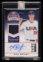 Kris Bryant 2015 USA Baseball Stars and Stripes Game Gear Materials Signatures #56 #94/99 at PristineAuction.com