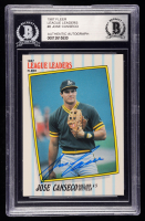 Jose Canseco Signed 1987 Fleer League Leaders #8 (BGS Encapsulated) at PristineAuction.com