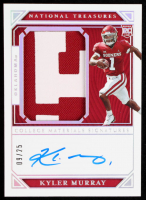 Kyler Murray 2019 Panini National Treasures Collegiate Silver #145 Jersey Autograph at PristineAuction.com