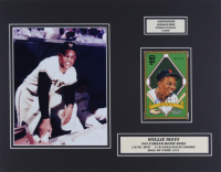 Willie Mays Signed LE Giants 14x18 Custom Matted Postcard Display (JSA COA) at PristineAuction.com