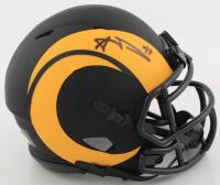 Aaron Donald Signed Rams Eclipse Alternate Speed Mini-Helmet (JSA COA) at PristineAuction.com