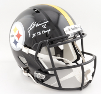 "James Harrison Signed Steelers Full-Size Speed Helmet Inscribed ""2x SB Champ"" (Beckett COA) at PristineAuction.com"