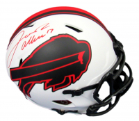 Josh Allen Signed Bills Full-Size Authentic On-Field Lunar Eclipse Alternate Speed Helmet (Beckett COA) at PristineAuction.com