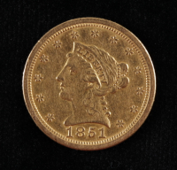 1861 O $2.50 Liberty Head Quarter Eagle Holed Gold Coin at PristineAuction.com