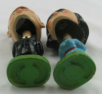 Set of (2) Vintage 1960's John F. Kennedy & Jackie O Kissing Bobble Heads (See Description) at PristineAuction.com