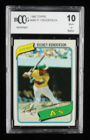 Rickey Henderson 1980 Topps #482 RC (BCCG 10) at PristineAuction.com