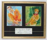 """LeRoy Neiman Signed 18x21 Custom Framed Cut Display Inscribed """"Two Big Time Golfers"""" with (2) Neiman Prints (PSA COA) at PristineAuction.com"""