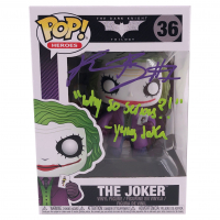 "Kadarius Toney Signed ""The Dark Knight Trilogy"" #36 The Joker Funko Pop! Vinyl Figure Inscribed ""Why So Serious?!"" & ""Yung Joka"" (JSA COA) at PristineAuction.com"