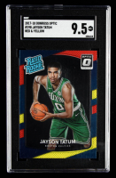 Jayson Tatum 2017-18 Donruss Optic Mega Box Rated Rookie Red Yellow #198 RR (SGC 9.5) at PristineAuction.com