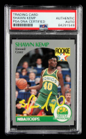 Shawn Kemp Signed 1990-91 Hoops #279 RC (PSA Encapsulated) at PristineAuction.com