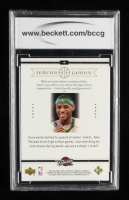 LeBron James 2003 Upper Deck LeBron James Box Set #4 Center of Attention (BCCG 10) at PristineAuction.com