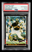 Tony Gwynn Signed 1985 Donruss #63 (PSA Encapsulated) at PristineAuction.com
