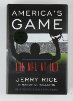 "Jerry Rice Signed ""America's Game The NFL at 100"" Hardcover Book (Premiere Collectibles COA) at PristineAuction.com"