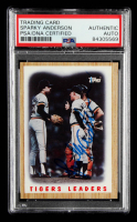 Sparky Anderson Signed 1987 Topps #631 Tigers Team (PSA Encapsulated) at PristineAuction.com