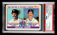 Alan Trammell Signed 1983 Topps #261 Tigers TL / Larry Herndon / Dan Petry (PSA Encapsulated) at PristineAuction.com
