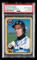 Alan Trammell Signed 1987 Topps #687 (PSA Encapsulated) at PristineAuction.com