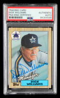 Dick Williams Signed 1987 Topps #418 MG (PSA Encapsulated) at PristineAuction.com