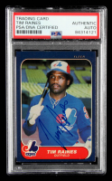 Tim Raines Signed 1986 Fleer #256 (PSA Encapsulated) at PristineAuction.com