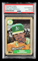 Tony LaRussa Signed 1987 Topps #68 MG (PSA Encapsulated) at PristineAuction.com