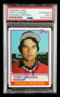 Tony LaRussa Signed 1983 Topps #216 MG (PSA Encapsulated) at PristineAuction.com