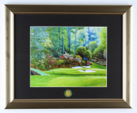 Augusta National 13x16 Custom Framed Textured Art Print Display with Masters Tournament Pin (See Description) at PristineAuction.com