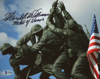 "Hershel W. Williams Signed ""Raising the Flag on Iwo Jima"" 8x10 Photo (Beckett COA) at PristineAuction.com"