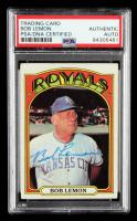 Bob Lemon Signed 1972 Topps #449 MG (PSA Encapsulated) at PristineAuction.com