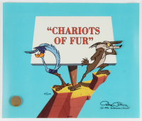 "Chuck Jones Signed ""Chariots of Fur"" Sold Out Limited Edition 12x10 Animation Cel (PA LOA) (See Description) at PristineAuction.com"