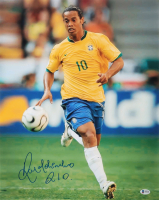 Ronaldinho Signed Barcelona 16x20 Photo (Beckett COA) at PristineAuction.com