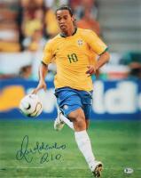 Ronaldinho Signed Barcelona 16x20 Photo (Beckett COA) at PristineAuction.com