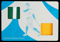 George Springer 2020 Immaculate Collection Immaculate Duals Memorabilia Printing Plates Cyan #6 at PristineAuction.com