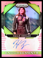 Hailie Deegan 2020 Panini Prizm Endorsements Prizms Pink #3 #01/50 at PristineAuction.com