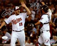 Glen Perkins & Kurt Suzuki Signed Twins 8x10 Photo (JSA COA) at PristineAuction.com