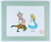 "Walt Disney's ""Alice in Wonderland"" 13.5x16.5 Custom Framed (2) Piece Animation Serigraph Cel Display with Disney Seal at PristineAuction.com"