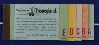 Vintage Disneyland 1959 16x16 Custom Framed Guide Book Display with Ticket Booklet & Disneyland Pin at PristineAuction.com