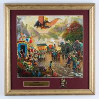"Thomas Kinkade Walt Disney's ""Bambi"" 16x16 Custom Framed Print Display with Dumbo Pin at PristineAuction.com"