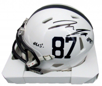 "Pat Freiermuth Signed Penn State Nittany Lions Speed Mini-Helmet Inscribed ""Aces!"" (JSA COA) at PristineAuction.com"