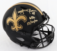 "Alvin Kamara Signed Saints Eclipse Alternate Full-Size Speed Helmet Inscribed ""6 TDs 12/23/20"" (Beckett Hologram) at PristineAuction.com"