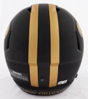 "Alvin Kamara Signed Saints Eclipse Alternate Full-Size Speed Helmet Inscribed ""6 TDs 12/23/20"" (Beckett Hologram) at PristineAuction.com"