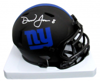 Daniel Jones Signed Giants Eclipse Alternate Speed Mini Helmet (Beckett COA) at PristineAuction.com