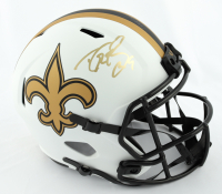 Drew Brees Signed Saints Full-Size Lunar Eclipse Alternate Speed Helmet (Beckett COA & Brees Hologram) at PristineAuction.com